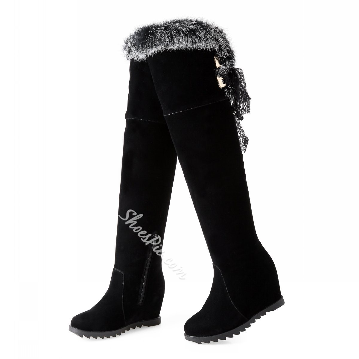 Shoespie Wedge Heel Knee High Snow Boots