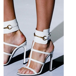 Shoespie Metal Cut-out Dress Sandals