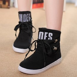 Shoespie Letter Pattern Lace-up Sneaker