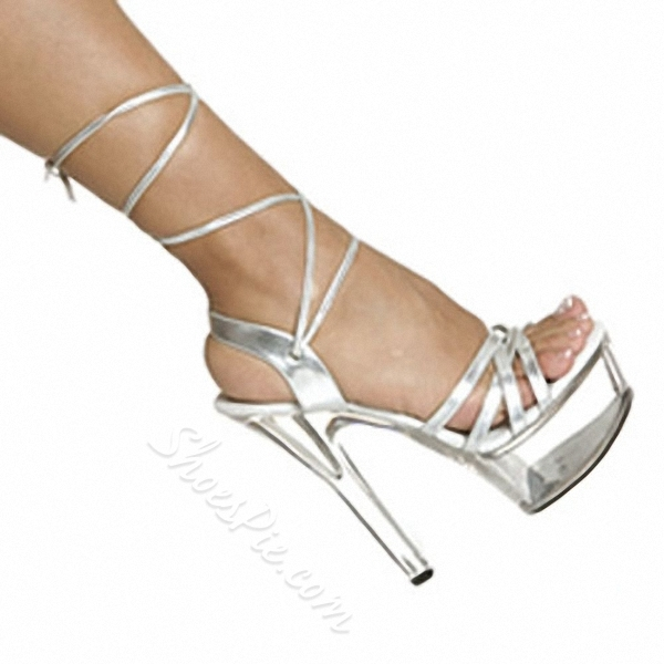Shoespie Solid Color Wrap Platform Sandals