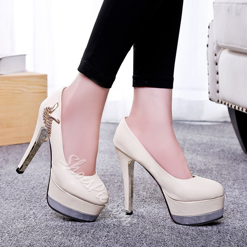 Shoespie Tassels Pure Color Platform Heels
