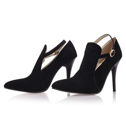 Shoespie Suede Pointed-toe Stiletto Heels