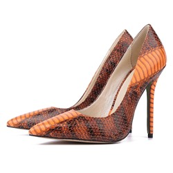 Shoespie Snakeskin Pointed-toe High Heel Stiletto Heels