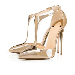 Shoespie T-Wrap Buckles High Heel Stiletto Heels