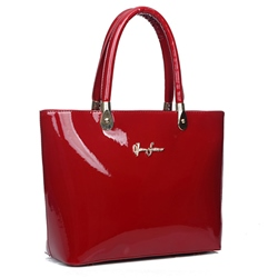Shoespie OL Style Shiny Patent Leather Handbag