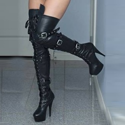 Shoespie Sexy Lace up Buckles Over Knee High Boots