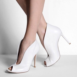 Shoespie White Fashion Peep-toe Stiletto Heels