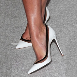 Shoespie Contrast Colors Pointed-toe Stiletto Heels