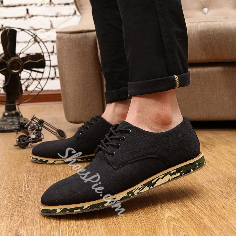 Shoespie Pointed Toe Lace up Men's Sneakers