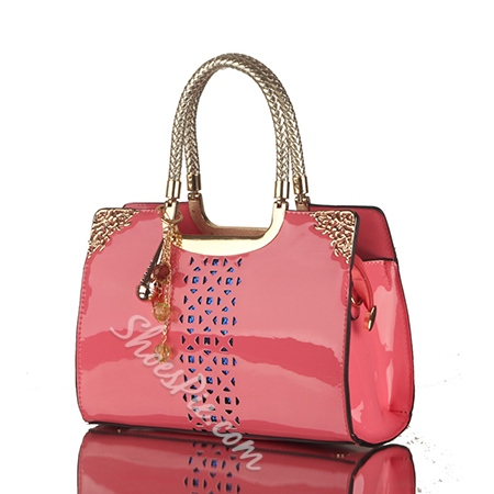 Shoespie Classy Patent Leather Tote Handbag