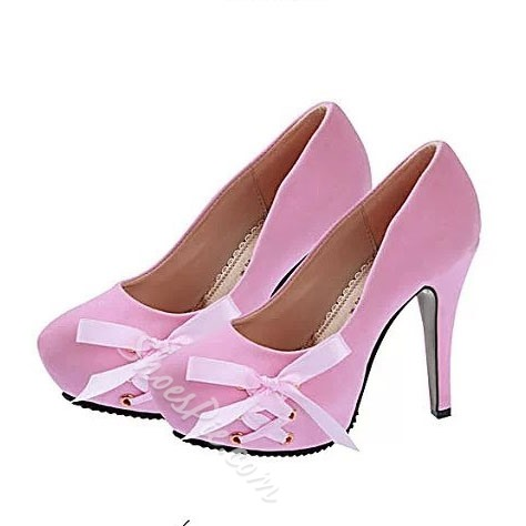 Shoespie Ribbon Decoration Platform Heels