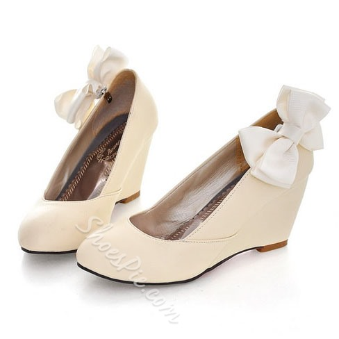 Shoespie Bowtie Cute Wedge Heels