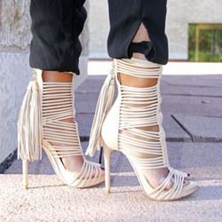 Shoespie Wrap Tassel Dress Sandals