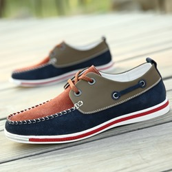 Shoespie Color Block Men's Loafers