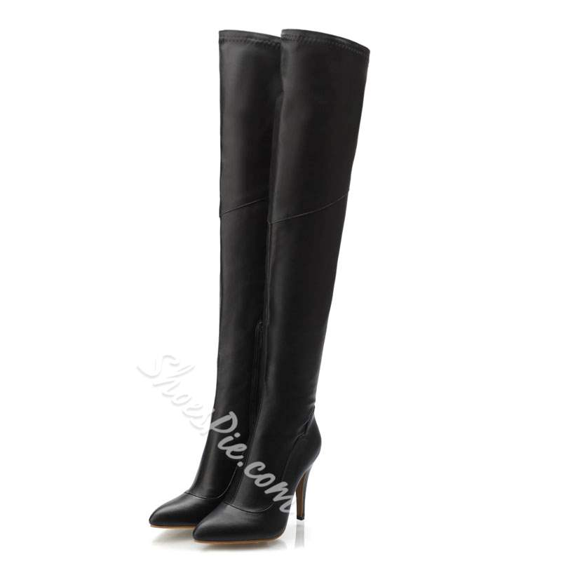 Shoespie Sexy Stiletto Knee High Heel Boots