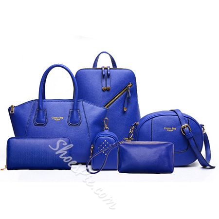 Shoespie Classic Solid Color Women Bag Set