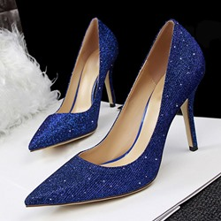 Shoespie Glitter Pointed-toe Stiletto Heels