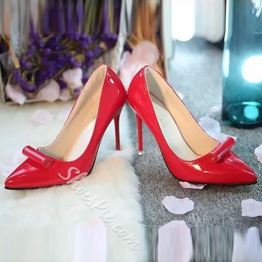 Shoespie Patent Leather Candy Colors Stiletto Heels