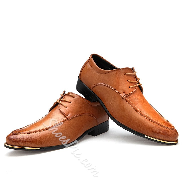 Shoespie Lace up Pointed Toe Men's Oxfords