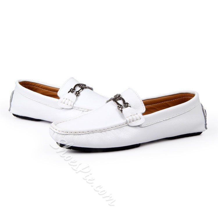 Shoespie Chain Boat Shoes Slip-On Men's Loafers