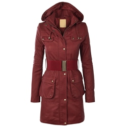 Long Zipper Long Sleeve Women's Trench Coat