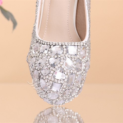 Shoespie Stylish Slip-On Platform Stiletto Heel Princess Wedding Bridal Shoes
