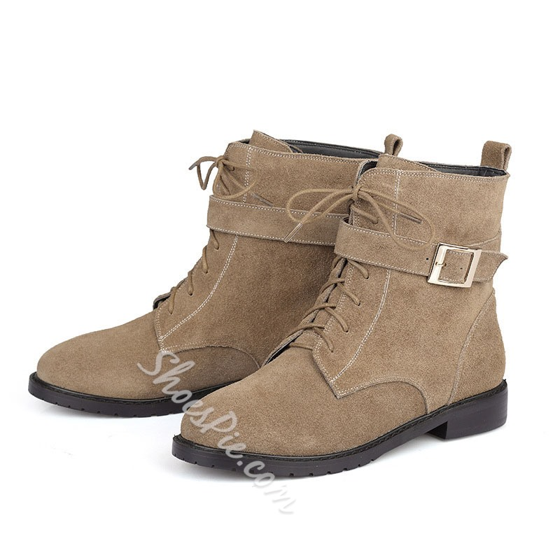 Shoespie Suede Flat Boots