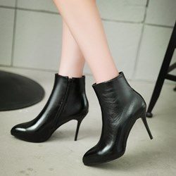 Shoespie Elegant Solid Color Ankle Boots