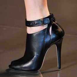 Shoespie Genuine Leather Peep-toe Ankle Boots