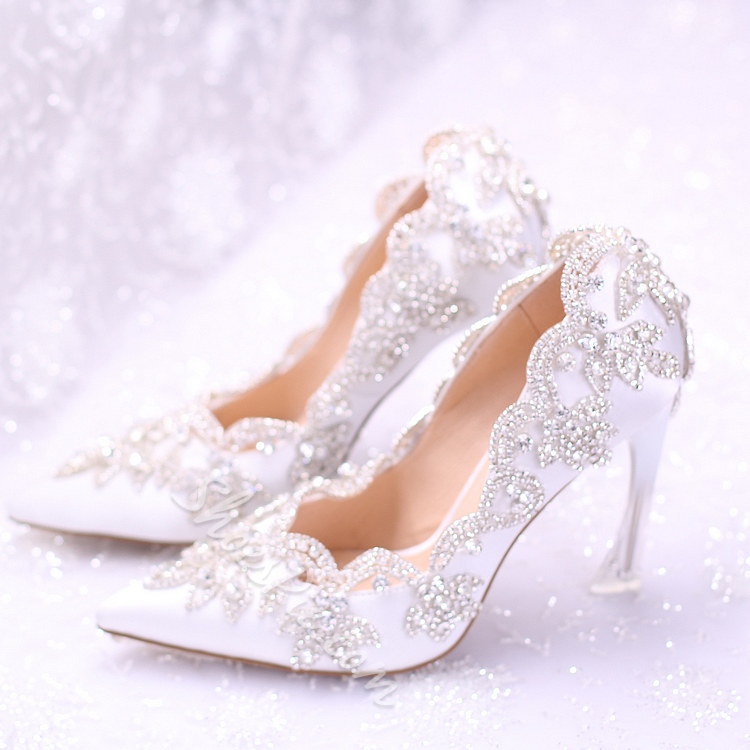 b8a0c01f957 Shoespie Pretty Rhinestone Silk Bridal Shoes- Shoespie.com