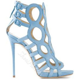 Shoespie Cut-out Buckle Decorated Dress Sandals