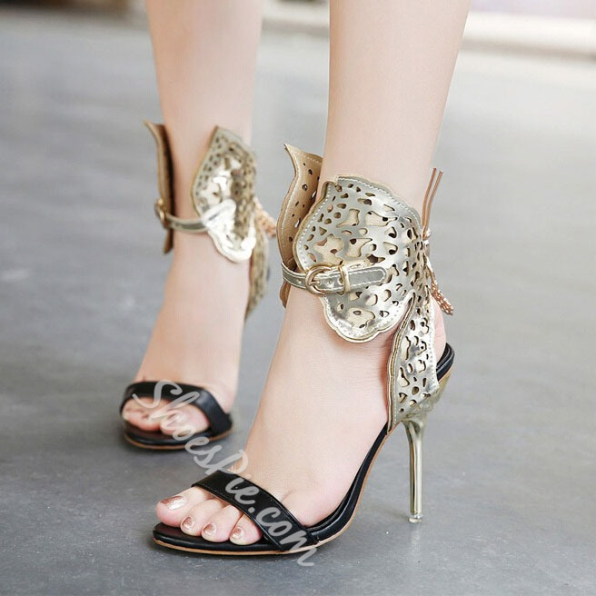 Shoespie Cut-out Assorted Color Dress Sandals