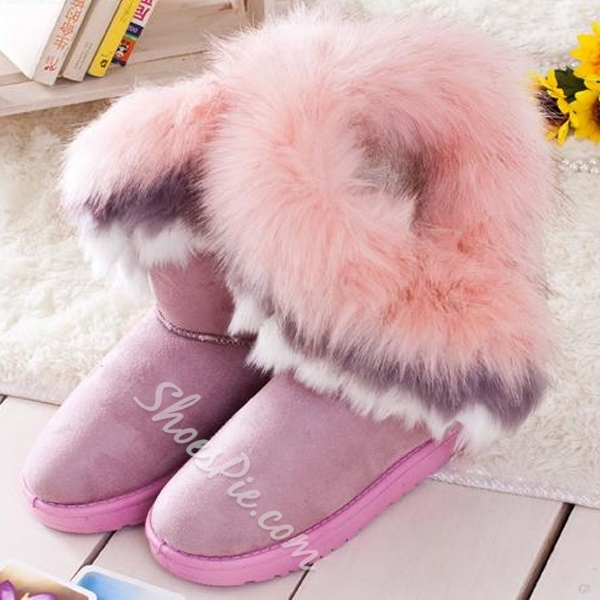 Alluring Cony & Fox Hair Snow Boots