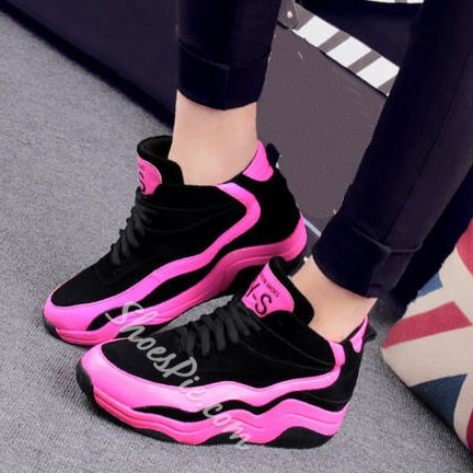Shoespie Sporty Color Block Sneakers