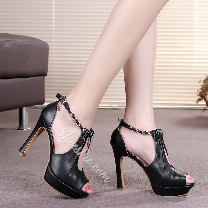 Shoespie Cut-out Decoration Dress Sandals