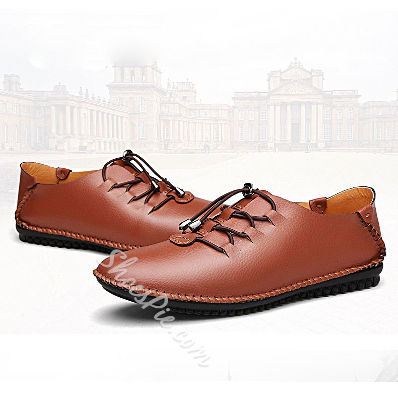 Shoespie Casual Flat Heel Lace-Up Men's Oxfords