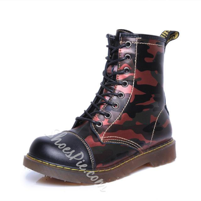 Shoespie Army Colors Flat Boots