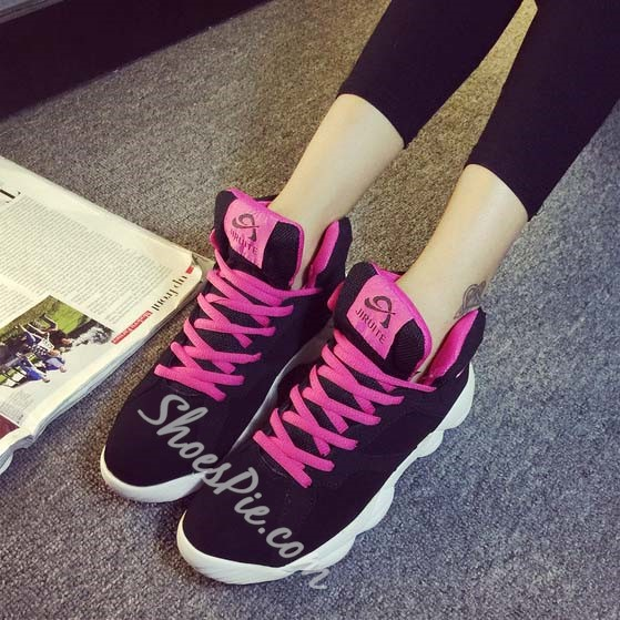 Shoespie Assorted Color Lace-up Fashion Sneaker Shoespie