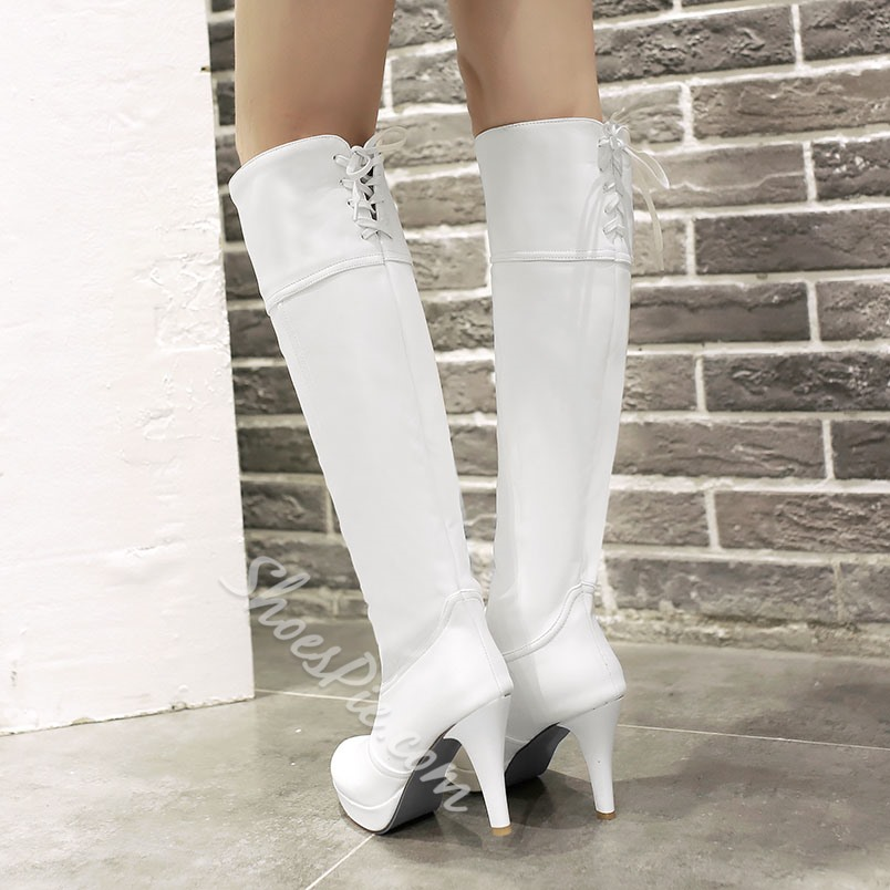 Shoespie Stiletto Heel Knee High Boots
