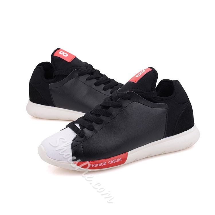 Shoespie Contrast Color Lace Up Men Sneakers