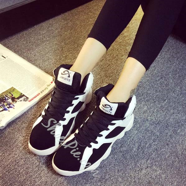 Shoespie Assorted Color Lace-up Fashion Sneaker