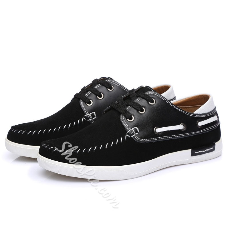 Men's Lace-up Patchwork Loafers