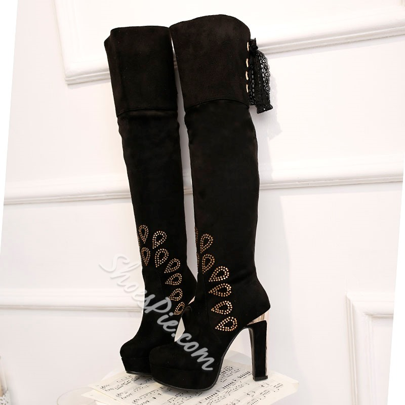 Shoespie Platform Stiletto Heel Over knee High Boots
