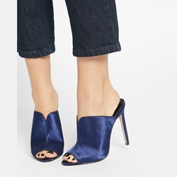 Shoespie Royal Blue Dress Mules