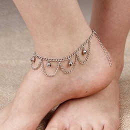 Shoespie Elegant Wave Shape Anklet(Single)
