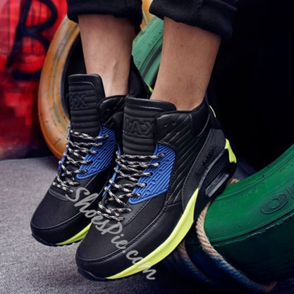 Shoespie Breathable Patchwork High-cut Upper Men's Sneakers