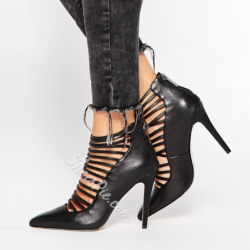 Shoespie Cut out Pointed toe Stiletto Heels