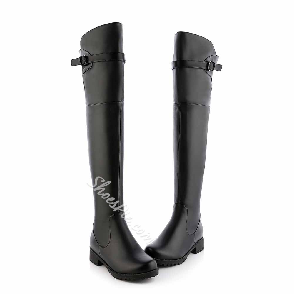 Shoespie Flat Thigh high Boots