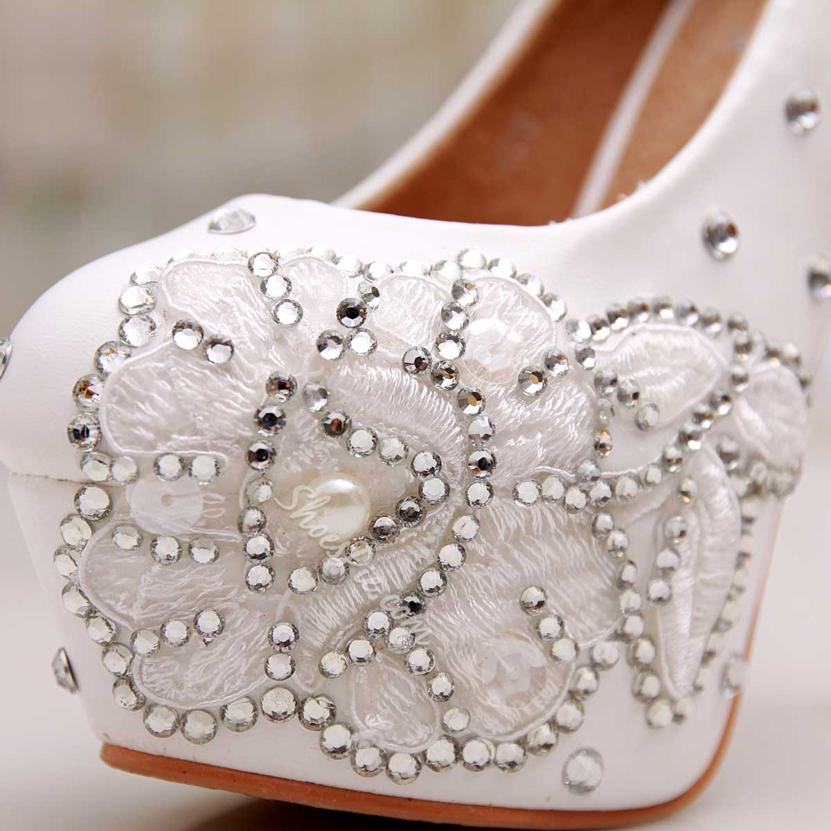 Shoespie Luxury Platform Heel Bridal Shoes