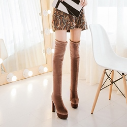 Shoespie High Heel Knee High Boots